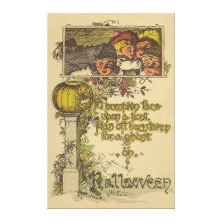 Children Jack O' Lantern Pumpkin Fall Canvas Print