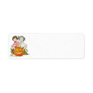 Children Jack O Lantern Pumpkin Label