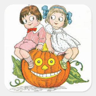 Children Jack O Lantern Pumpkin Sticker