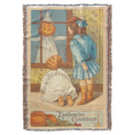 Children Jack O' Lantern Scarecrow Pumpkin Throw