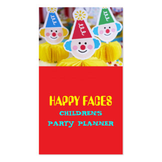 Children Kids Party Planner Catering Service Food Business Card