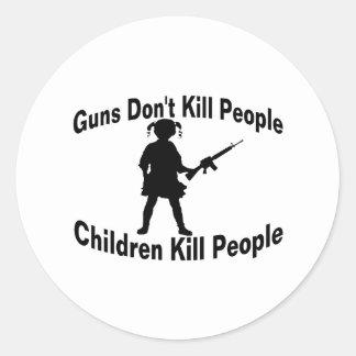 Children Kill Classic Round Sticker
