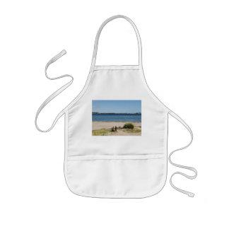 Children kitchen apron beach and sea
