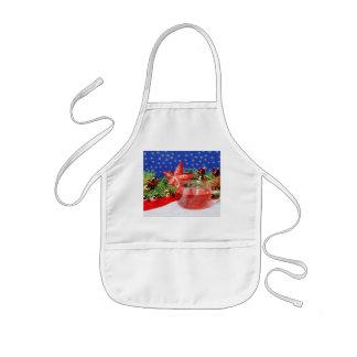 Children kitchen apron Christmas