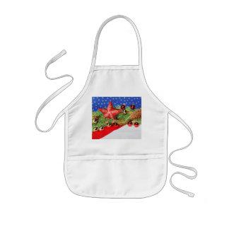 Children kitchen apron glad Christmas