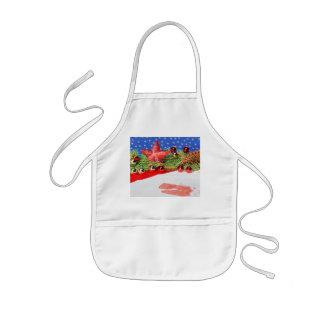 Children kitchen apron glad Christmas holidays
