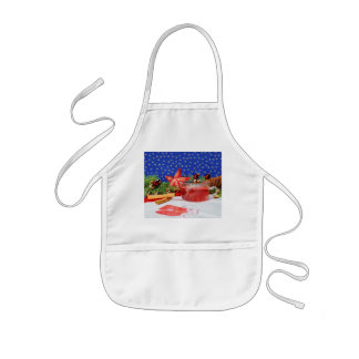 Children kitchen apron with Christmas motive