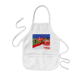 Children kitchen apron with Christmas picture