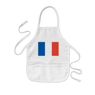 Children kitchen apron with France flag