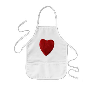 Children kitchen apron with motive for heart
