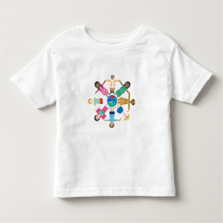 Children - love makes this world one family tees