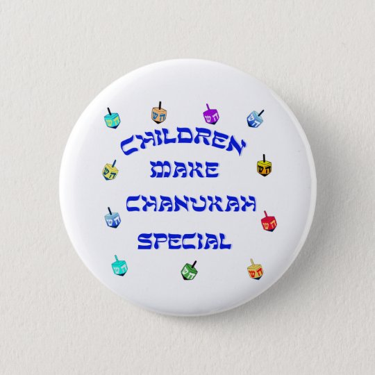Children Make Chanukah Special Button