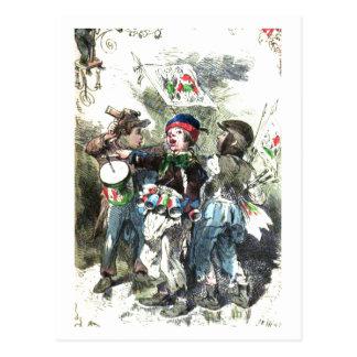 Children Making Music Christmas Postcard
