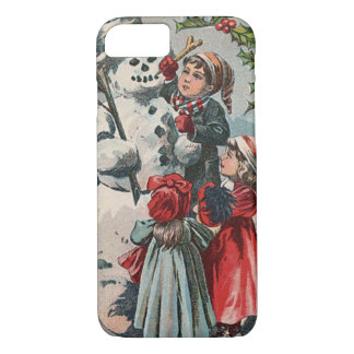 Children Making Snowman Holly iPhone 7 Case