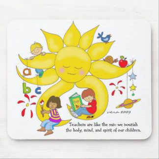 Children Matter - Teachers Care by Vera Trembach Mouse Pad