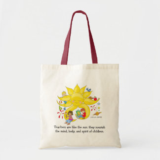 Children Matter - Teachers Care by Vera Trembach Tote Bag