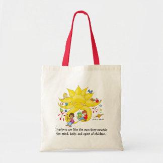 Children Matter - Teachers Care by Vera Trembach Tote Bag
