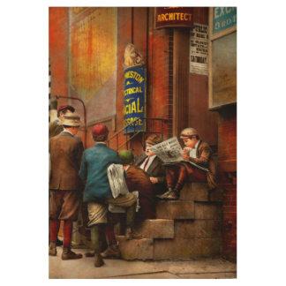 Children - Morning Meeting 1910 Wood Poster