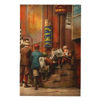 Children - Morning Meeting 1910 Wood Wall Decor