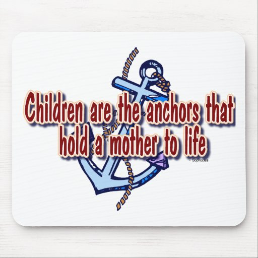 children mothers anchor to life mouse mats