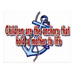 children mothers anchor to life post card
