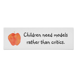 Children Need Models Poster