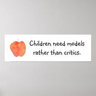 Children Need Models Poster