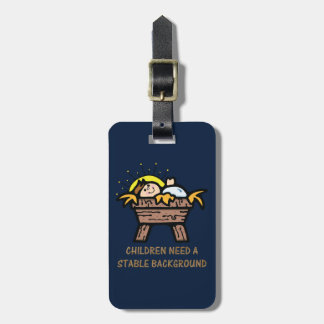 children need stable background bag tags