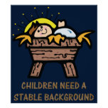 children need stable background poster