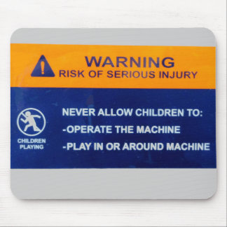 Children Not Allowed on Computer Mouse Pad