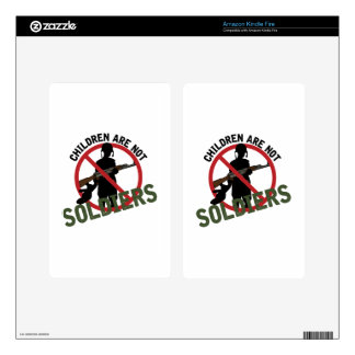 Children Not Soldiers Kindle Fire Decal