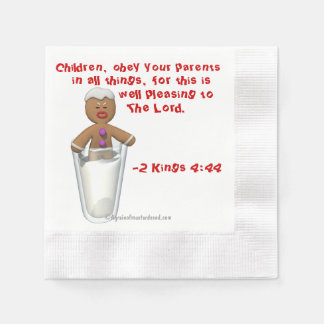 Children obey your parents Gingerbread Man Coined Cocktail Napkin