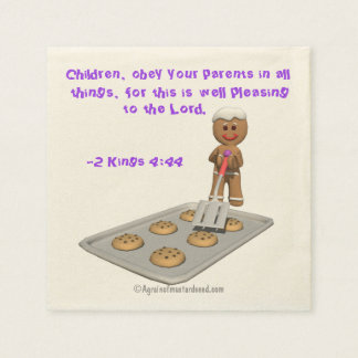 Children obey your parents Gingerbread Man Paper Napkin