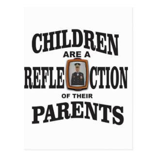 children of army parents postcard