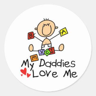 Children Of Gay Parents Round Stickers
