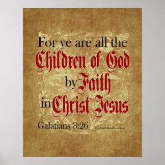 Children of God by Faith Print
