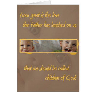 Children of God Christian gift card