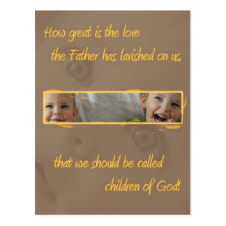 Children of God Christian postcard