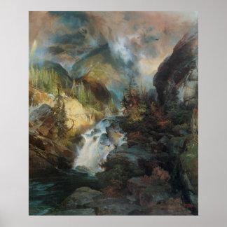 Children of Mountains, Moran, Vintage Landscape Posters