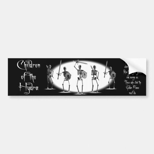 'Children of the Hydra' Skeletons Bumper Stickers