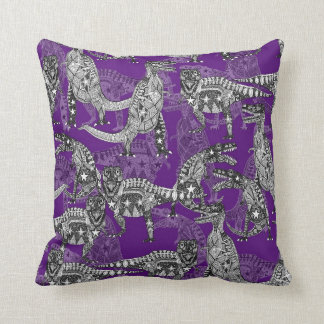 Children of the Late Cretaceous ~ purple Throw Pillow