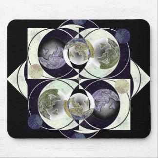 children of the moon mandala mouse pad mousepad