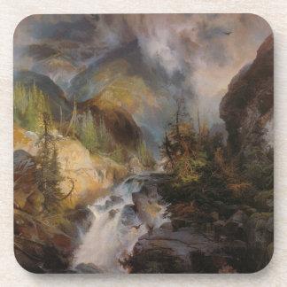 Children of the Mountain - Thomas Moran (1867) Drink Coaster