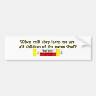 Children of the Same God 1 Bumper Sticker