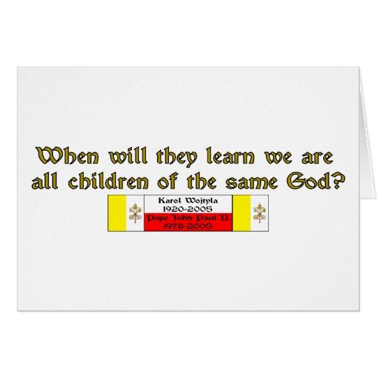 Children of the Same God 1 Card