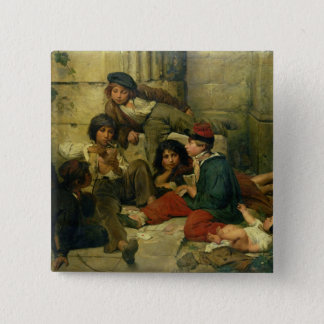 Children of the Streets of Paris, 1852 Pinback Button