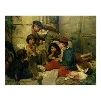 Children of the Streets of Paris, 1852 Postcard