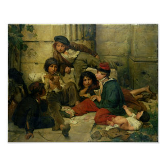Children of the Streets of Paris, 1852 Poster