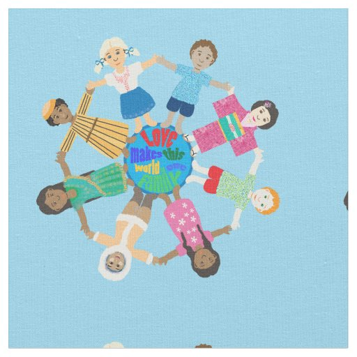 Children of the world fabric zazzle for Children s upholstery fabric