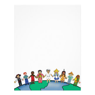 Children of the World Personalized Letterhead